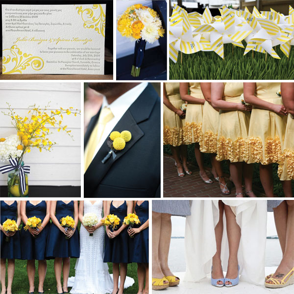 preppy navy and yellow inspiration board every last detail