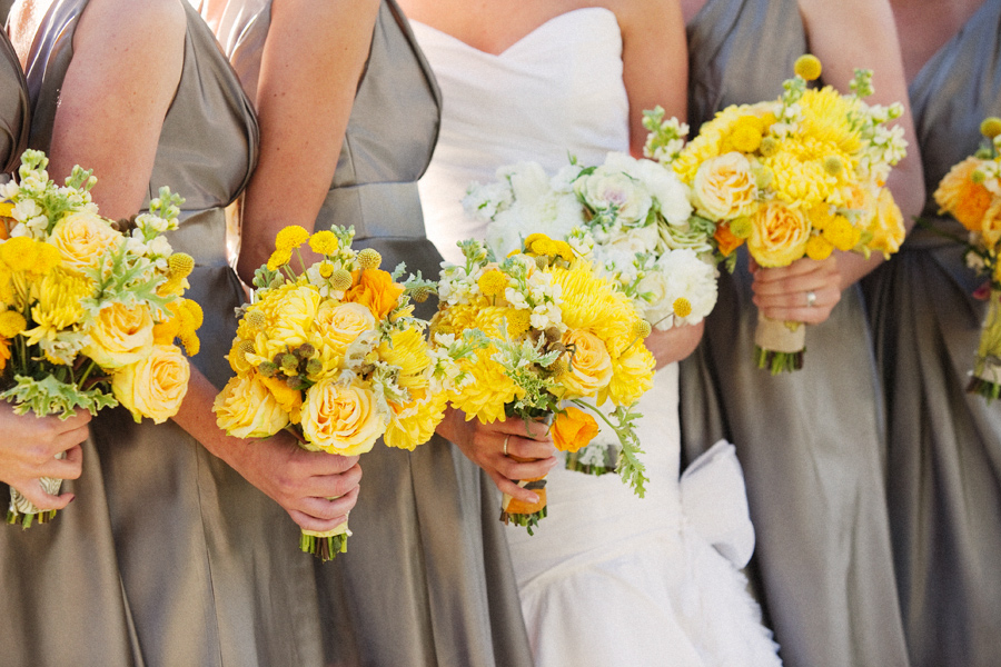 A Yellow and Gray California Wedding