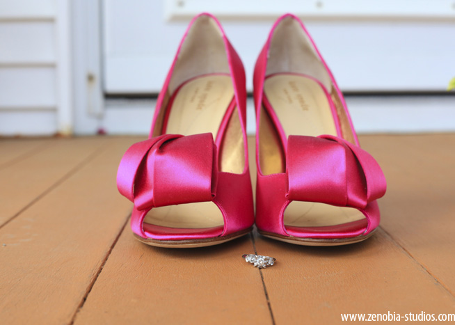 Pink High Heels For Wedding: Chic Pink New Jersey Wedding