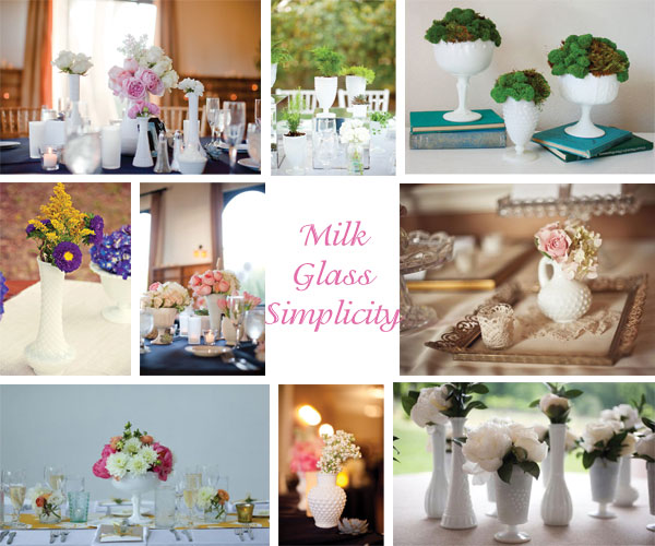 Inspiration Board: Milk Glass