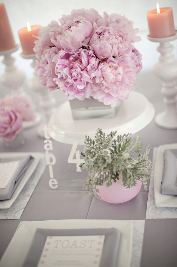 Modern, Chic Pink & Gray Inspiration Shoot {The Design}
