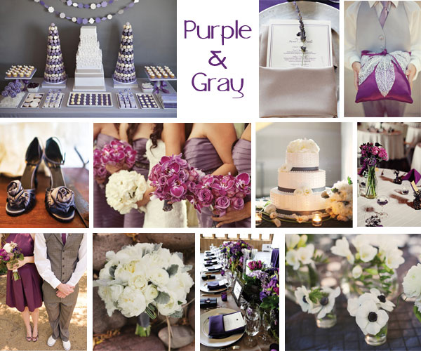Inspiration Board: Purple & Gray
