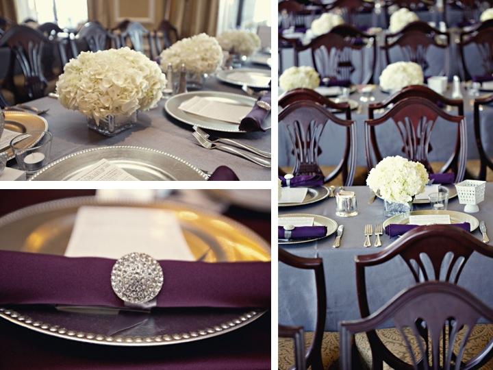 purple wedding table