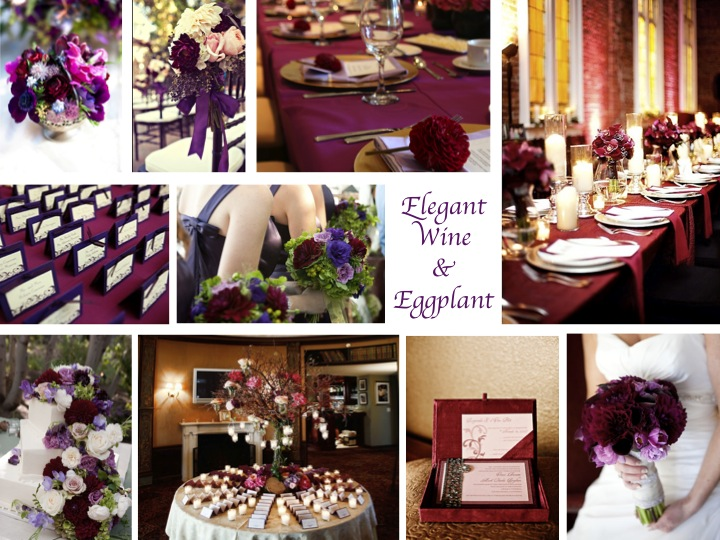 of wine and eggplant will create an elegant yet rustic environment