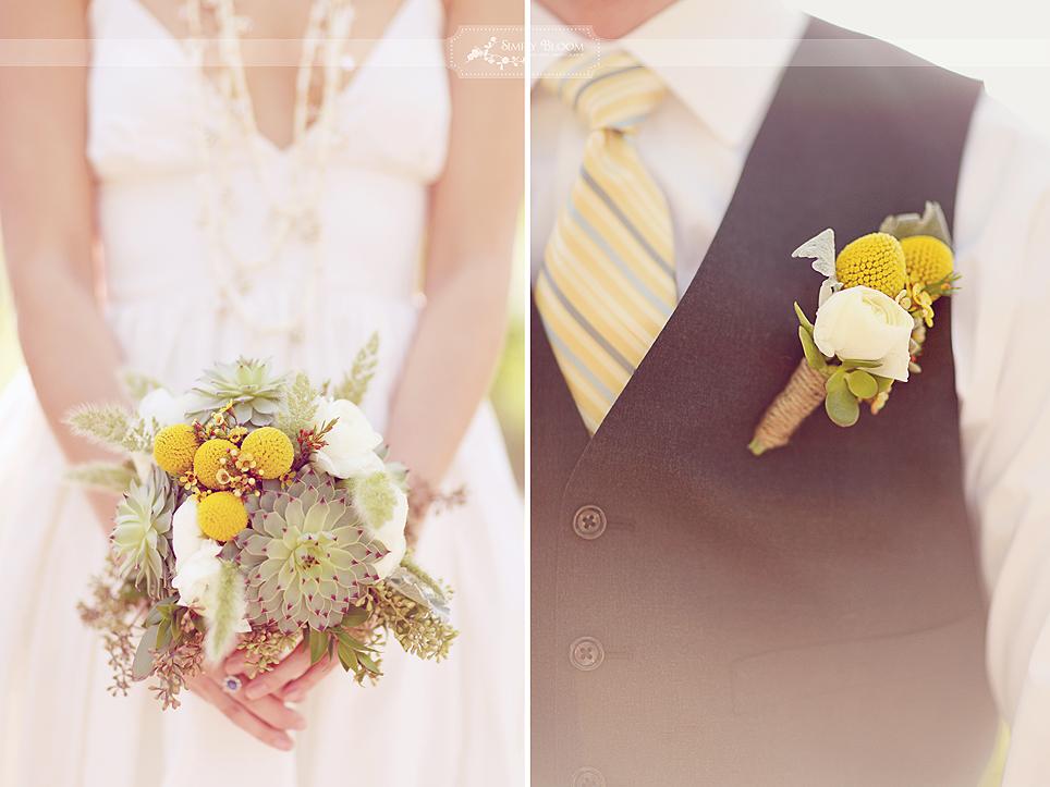 DIY Yellow & Gray Texas Wedding via TheELD.com