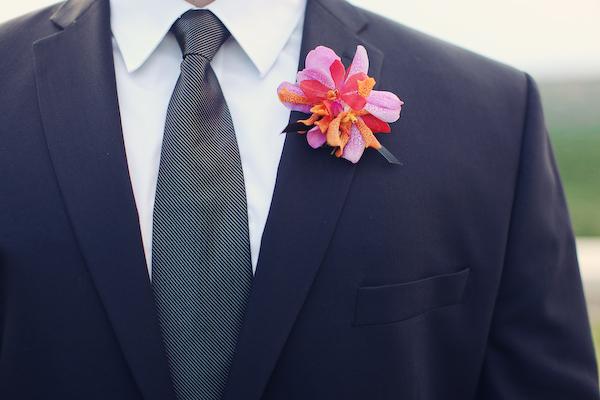 Bright, Modern Pink & Orange Wedding: Part 1 via TheELD.com
