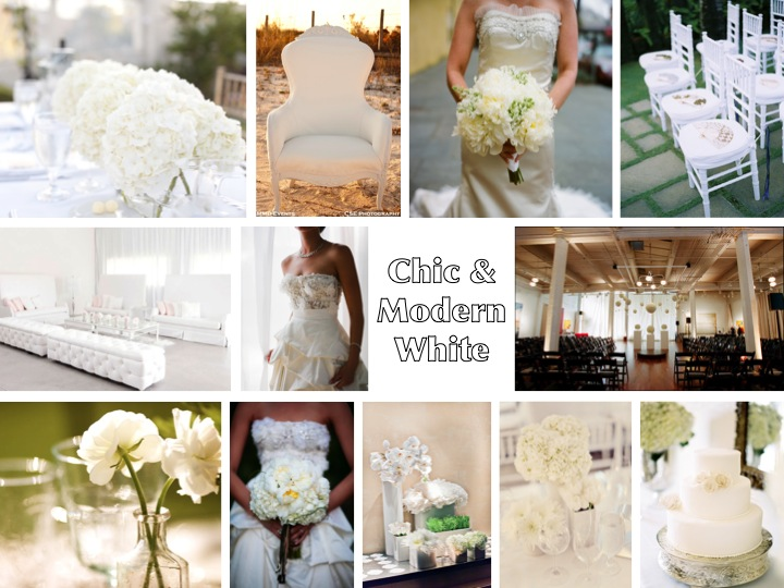 I am DYING to feature an all white modern wedding
