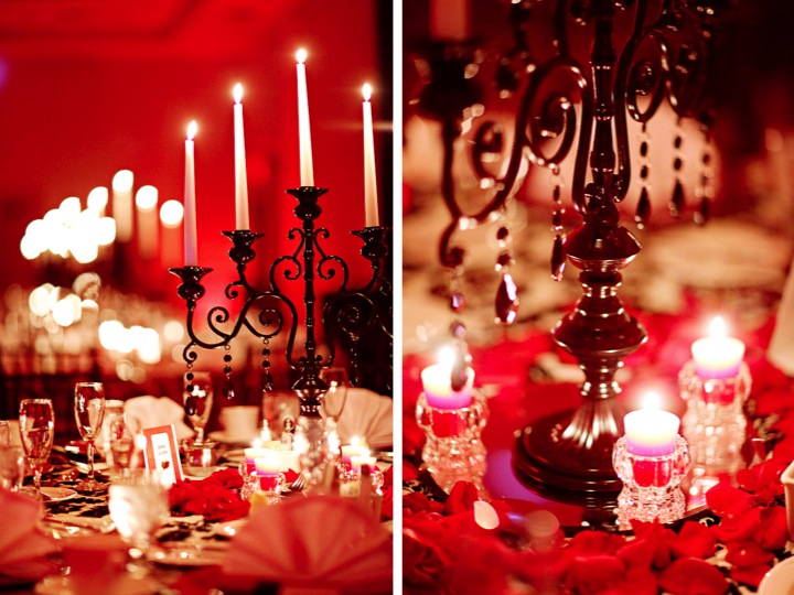 Elegant Black Red Florida Wedding Every Last Detail Elegant Black Red
