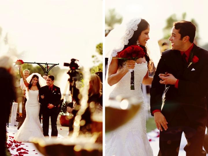 Elegant Black & Red Florida Wedding via TheELD.com