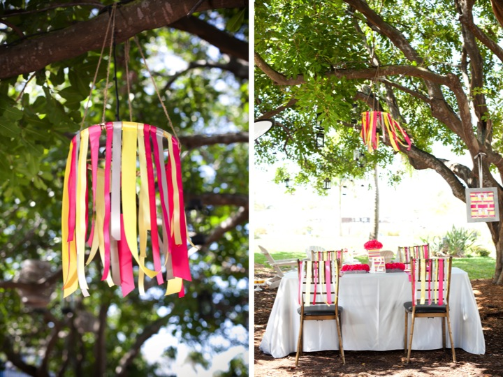 I give you my pink yellow gray modern ribbon inspiration shoot