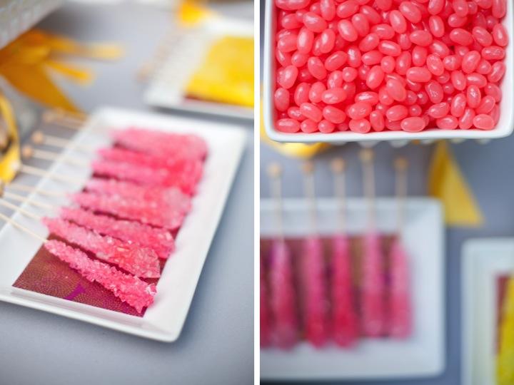 Pink, Yellow, & Gray Modern Ribbon Inspiration Shoot via TheELD.com