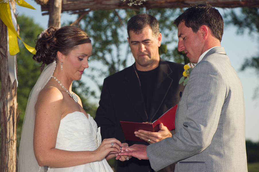 Yellow & Gray Texas Ranch Wedding via TheELD.com