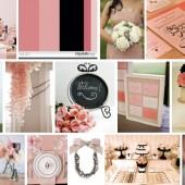 Blush Pink and Black modern wedding inspiration