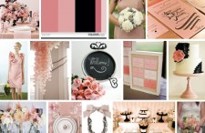 Blush Pink and Black modern wedding inspiration