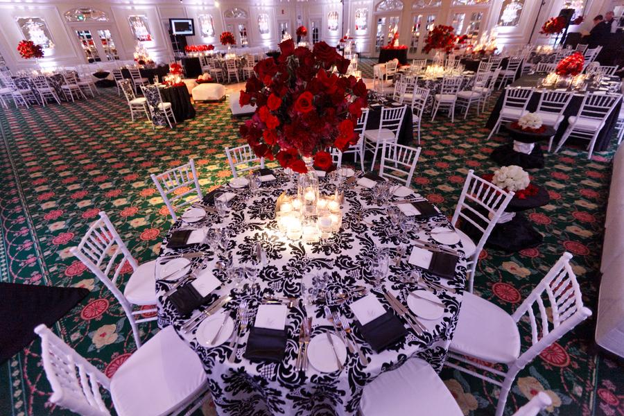 Elegant Red and Black Wedding via TheELD.com