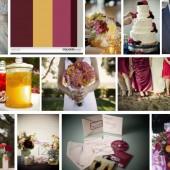 Golden berry wedding inspiration
