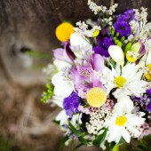 Purple and yellow spring wedding 4