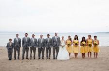 Yellow Lakeside Wedding 15