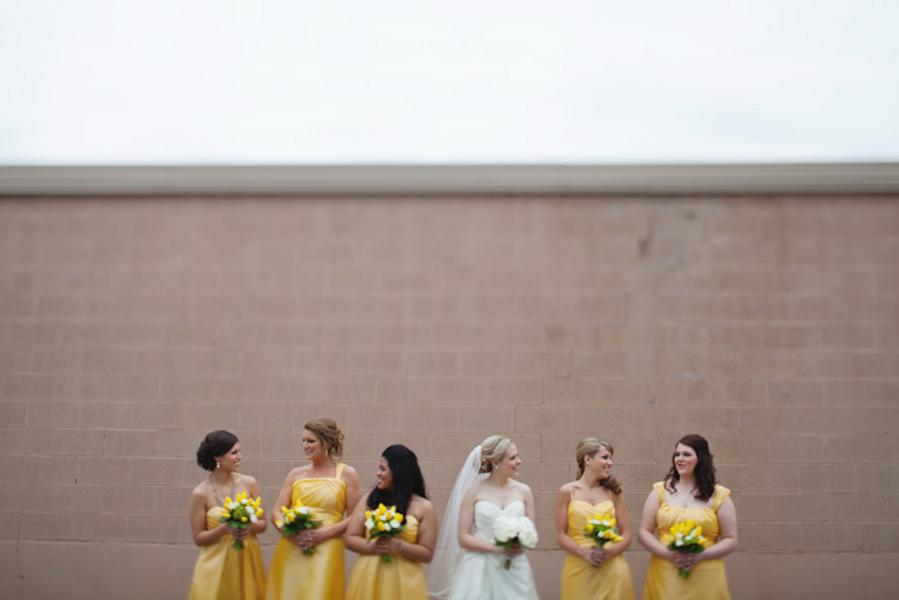 Yellow Michigan Lakeside Wedding via TheELD.com