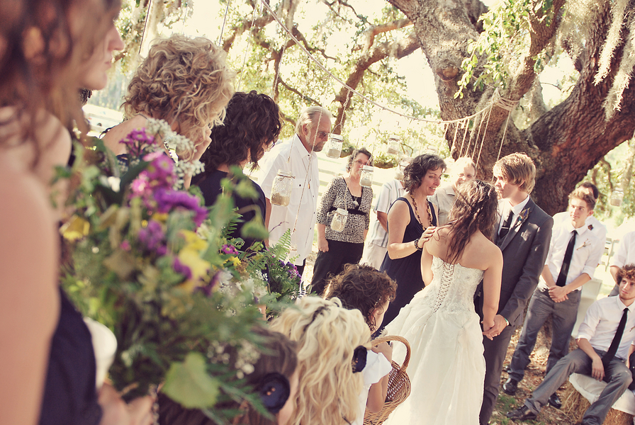 Rustic Eclectic Florida Wedding {Part 2} via TheELD.com