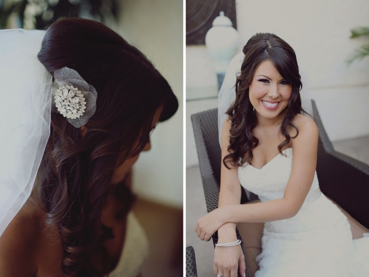 Modern Elegant Pink & Black California Wedding  via TheELD.com