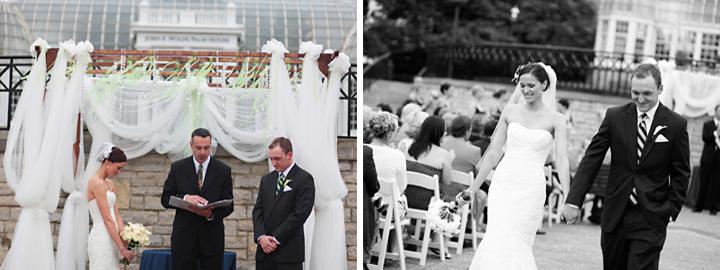 Modern Navy, Pink, and Green Ohio Wedding via TheELD.com