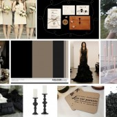 Modern black & taupe inspiration board