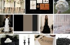 Modern black & taupe inspiration board