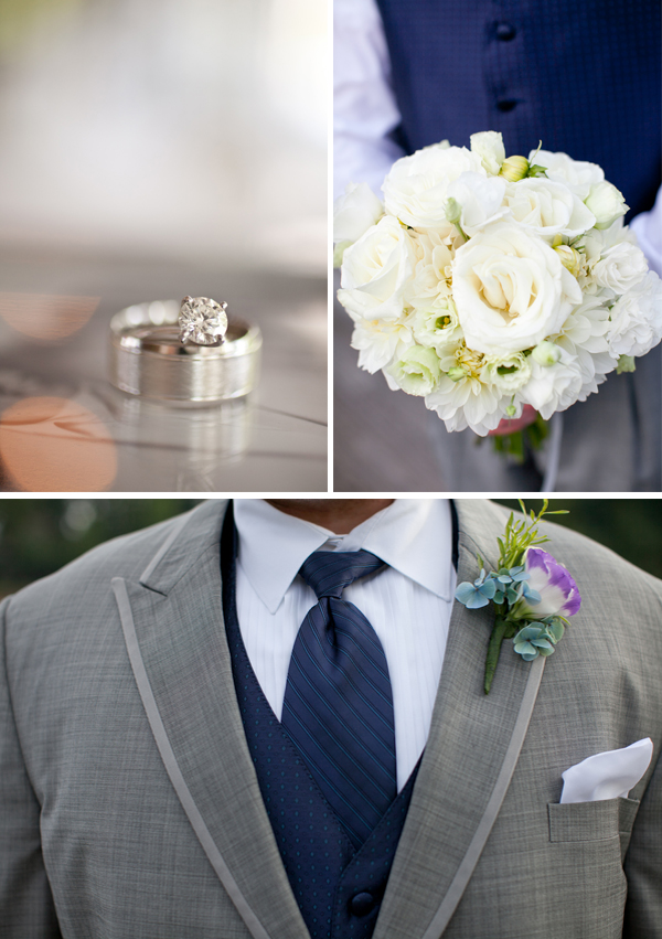 Classic Navy and Gray North Carolina Wedding via TheELD.com