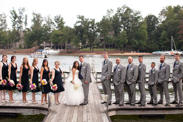 Navy And Coral Wedding Colors: Classic Navy And Gray North Carolina Wedding