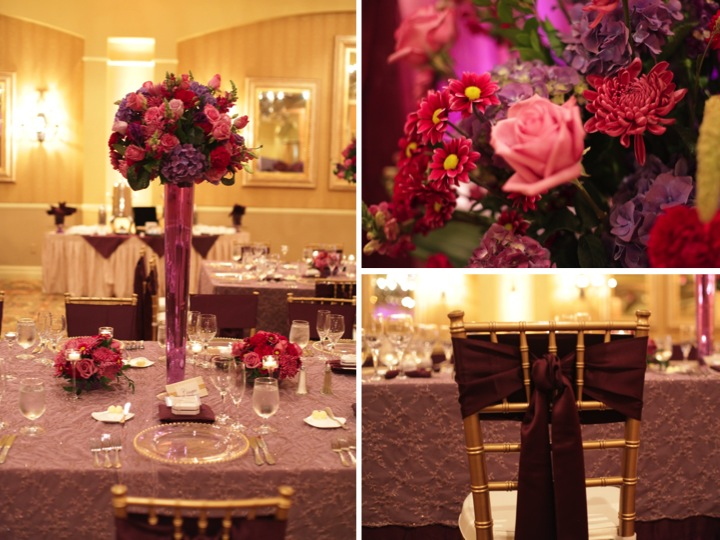Elegant Purple Ballroom Wedding