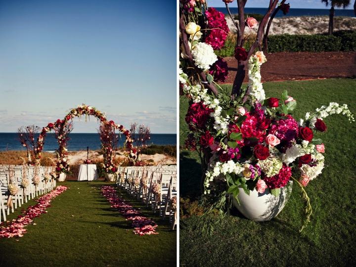 Elegant Red Ballroom Wedding via TheELD.com