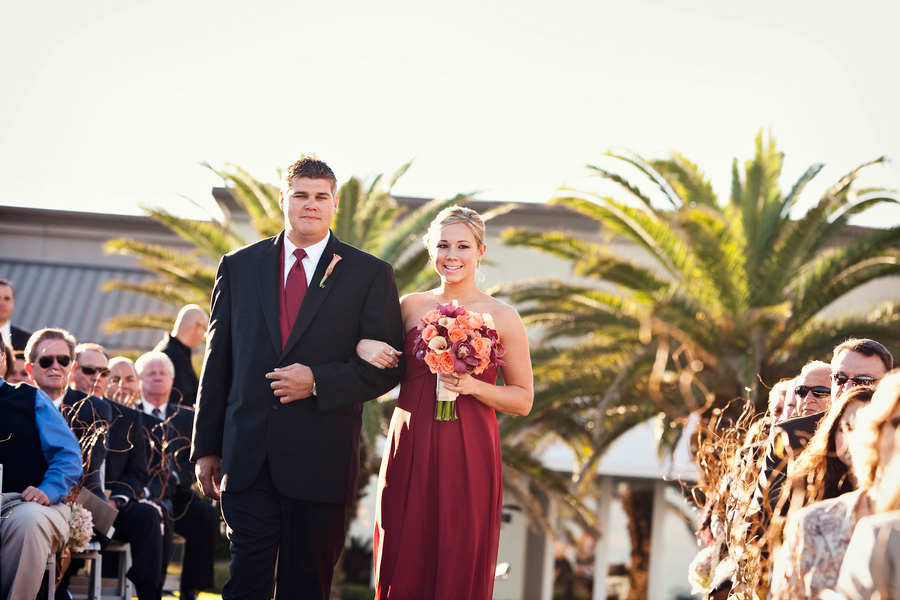 Elegant Red Ballroom Wedding via TheELD.com