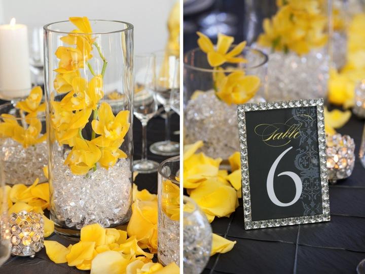 Modern Yellow & Slate Wedding Inspiration via TheELD.com