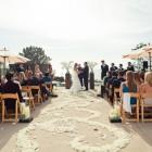 Modern white, green & aqua wedding 14