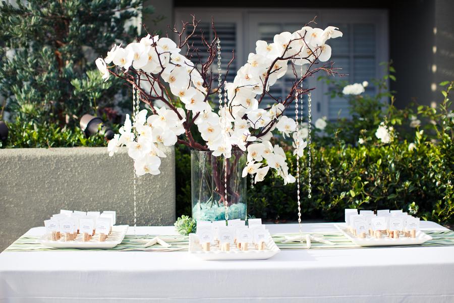 Modern white green aqua wedding every last detail
