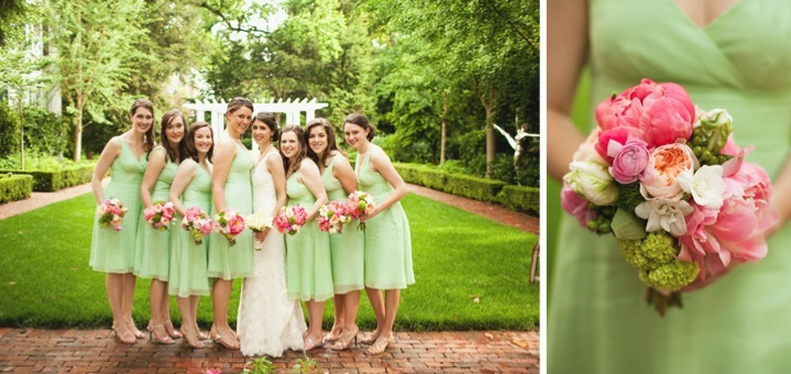 Pink and Green Southern Wedding