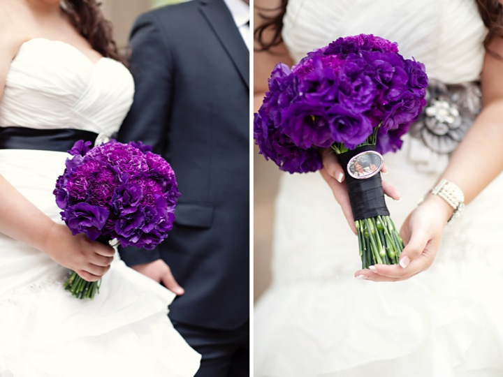 black and purple wedding