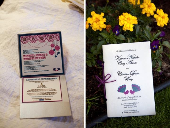 Purple and Blue Seattle Zoo Wedding {Part 1}  via TheELD.com