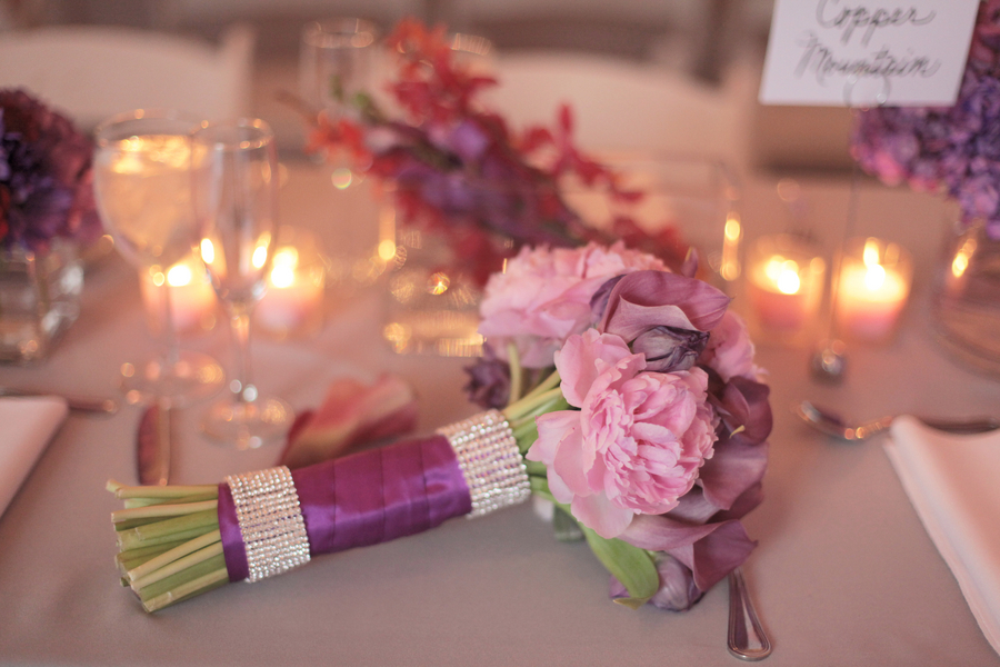 Purple & Red Modern Wedding