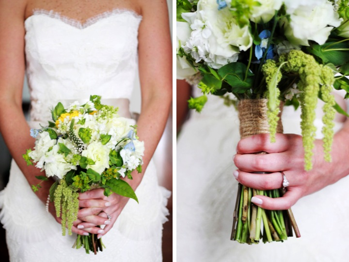 Yellow and Green Southern Vintage Wedding via TheELD.com