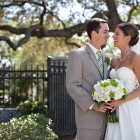 Classic green and white wedding 11