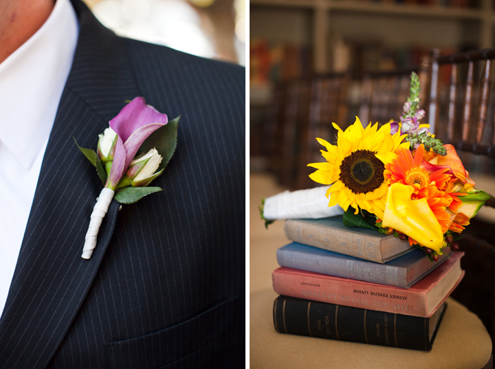 Eclectic DIY Purple and Yellow Wedding via TheELD.com