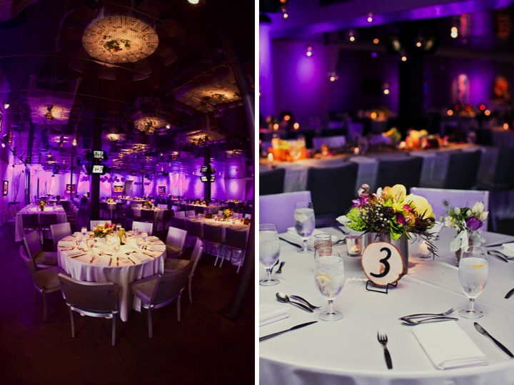 Modern Purple and Green California Wedding