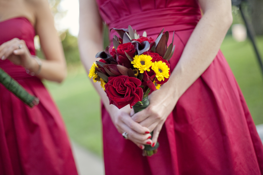 Modern Red Rooftop Wedding via TheELD.com