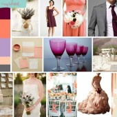 Peach, beet and lavender wedding inspiration