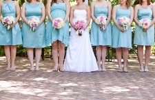 Pink and aqua shabby chic wedding 13