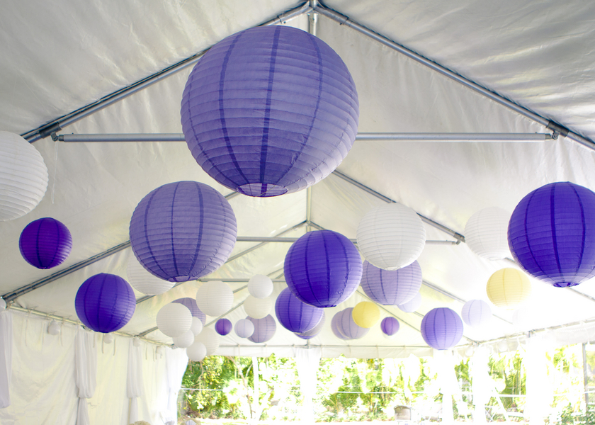 Purple and Yellow DIY Florida Wedding