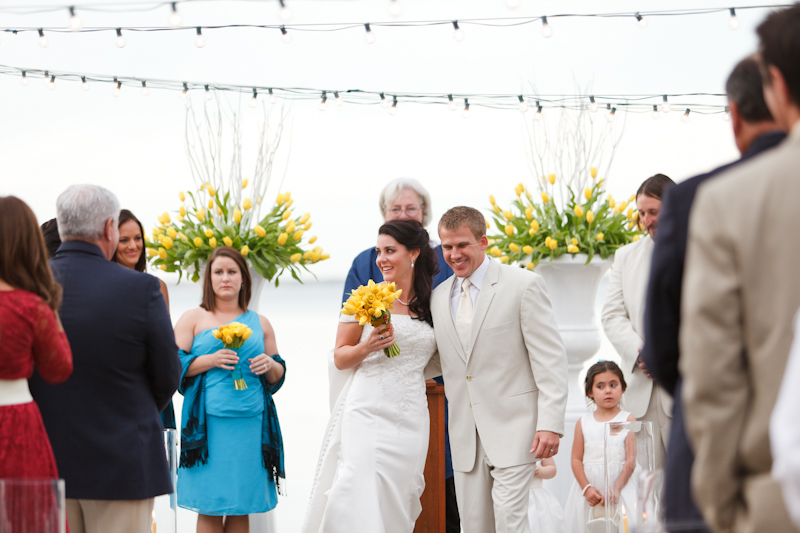 Modern Yellow and Blue Wedding via TheELD.com