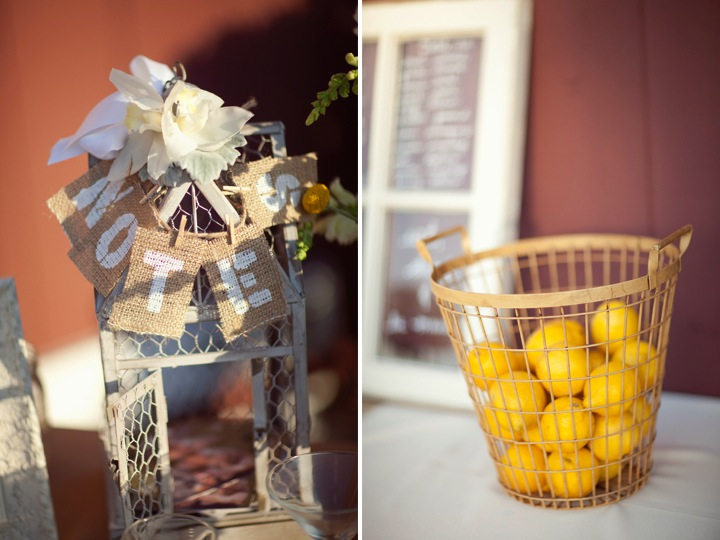 Yellow Rustic Chic Wedding